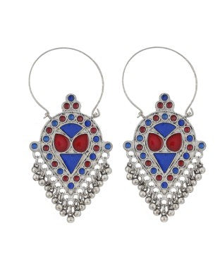 Aradhya Stone Drop Earring, Dangle Earring, Hoop Earring, Chandbali Earring