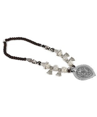 aradhya Beads Silver Plated Metal Necklace
