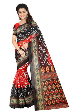 16TO60TRENDZ Multi Color Printed Bhagalpuri Silk Saree $ SVT00435