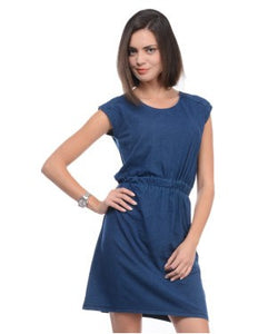 UNITED COLORS OF BENETTON Blue SHORT DRESS