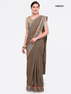 Umang NX Brown Georgette Designer Embroidery Sarees $ UN6315
