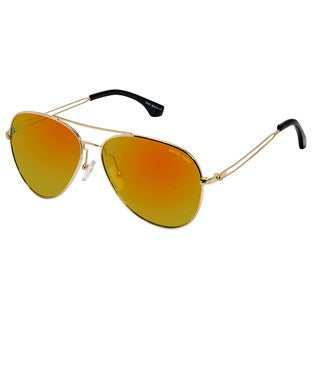 David Blake Yellow Mirror Aviator Sunglass