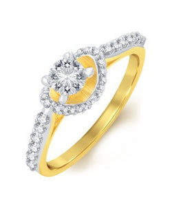Sukkhi Classic Gold Plated Solitaire Ring For Women