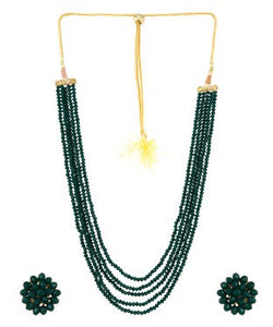 Aradhya Crystal Jewel Set (Green)