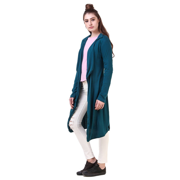Fame 16 Long Sleeves Women's Green Cotton Solid Shrug $ F16-1600162
