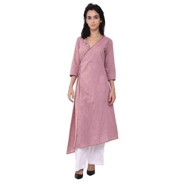 VRITTA Women's Cotton Embroidered Angrakha $ VR0007
