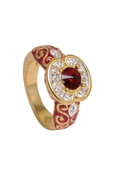 Red Enamel Ring-S6 - JSENRIN1991S6