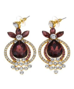 Golden Peacock Floral Shaped Earring