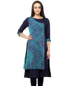 BLUE COLOR RAYON HOMA KURTIS