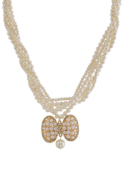 BAUBLE BURST Bedazzled Bow Necklace