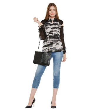 Oxolloxo Multicolor Abstract Print Long Sleeve Top