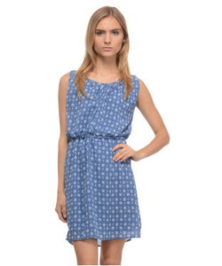 UNITED COLORS OF BENETTON Blue and White SHORT DRESS