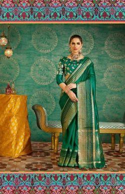 Umang NX Green Art Silk Designer Weaving Sarees $ UN4745