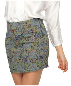 Deck Fashion Multi Color Mini Skirt