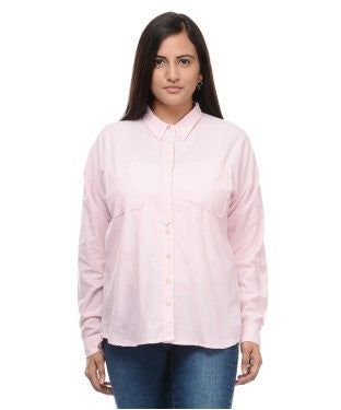 ENTEASE PINK COTTON SHIRT