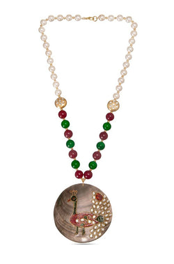 BAUBLE BURST Moti Motif Necklace