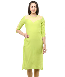 GREEN COLOR RAYON HOMA KURTIS