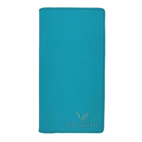 Baluchi Blue Matt Finished Long Wallet for Men & Women $ BLC_LNGWLT_BLU_03