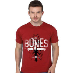 Partum Corde Premium Men's Modern Fit Round Neck T shirt BAD Bones $ BAD Bones1408