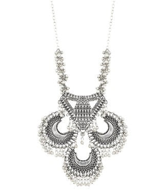 aradhya Silver Plated Silver Necklace