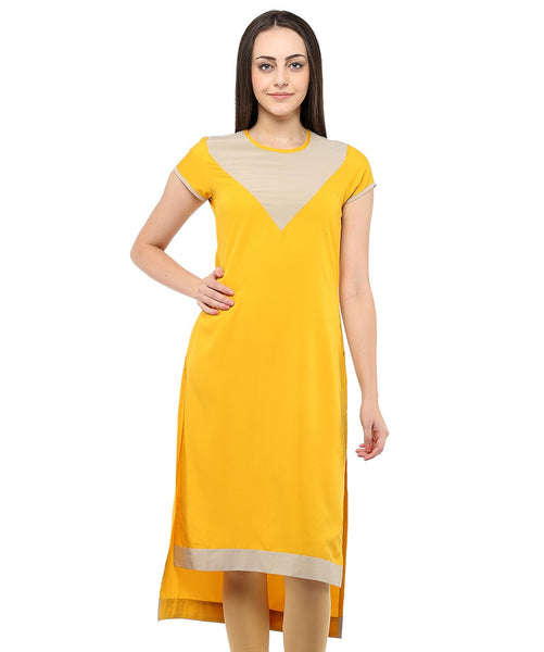 YELLOW COLOR CREPE HOMA KURTIS