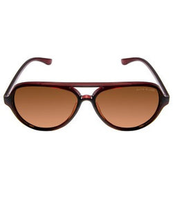 David Blake Brown Aviator Polarized, UV Protected Sunglass