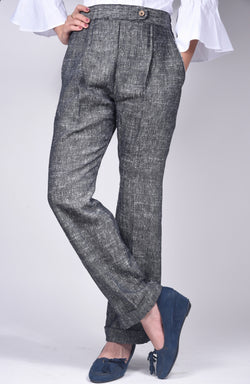 Grey Formal Khadi Trouser $ IWK022