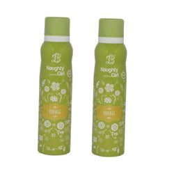 Naughty Girl VOYAGE Deodorant for Women- Pack of 2 (150ml each)