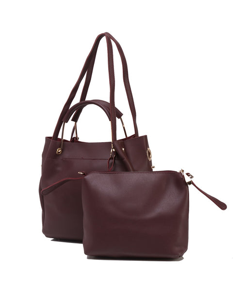 Fiona Trends Maroon PU Shoulder Bag,611_MAROON