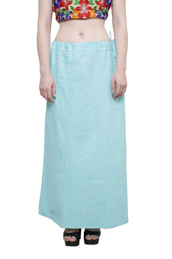 MY TRUST Cotton Sky Blue Color Saree Petticoats $ PT-33