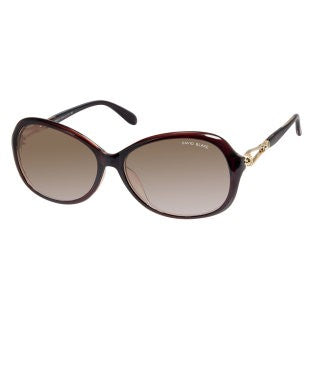 David Blake Brown Oval UV Protected Sunglass