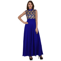 DESIGNER GOTA LONG GEORGETTE DRESS $ GB0010