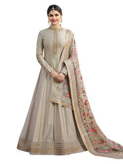 YOYO Fashion Designer Chennai Silk Semi-stitched  Fancy Party Wear Anarkali Salwar Suit $ F1214