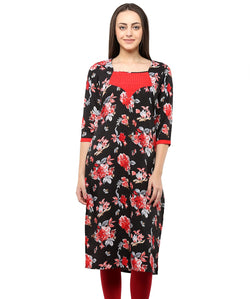 BLACK COLOR CREPE HOMA KURTIS