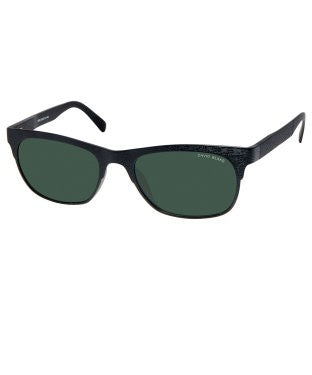 David Blake Green Rectangular Polarised, UV Protected Sunglass