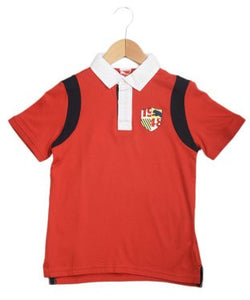 Puma Red And White S/S Polo T-Shirt