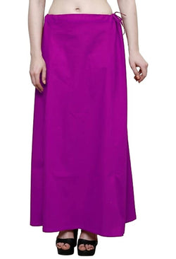 MY TRUST Cotton Purple Color Saree Petticoats $ PT-13