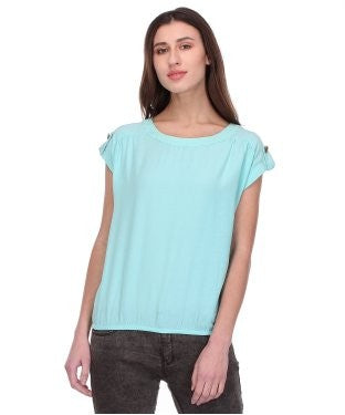 Glam a gal sea green s/s top