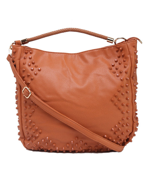 Fiona Trends Brown PU Shoulder Bag,6006_BROWN