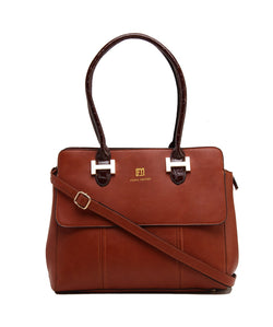 Fiona Trends Brown PU Shoulder Bag,103_BROWN