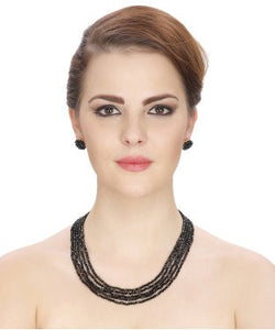 Aradhya Crystal Jewel Set (Black)