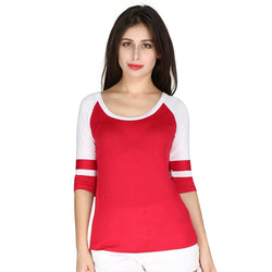 London Rag Womens Round Neck Rib Top-CL7239