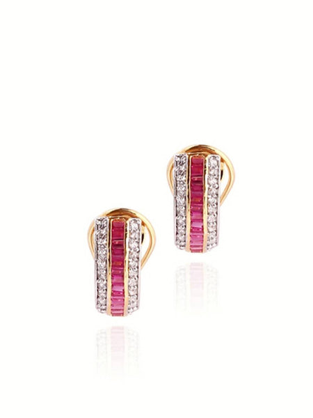Ruby Clip Earrings - JBBDEAR1165