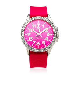 Juicy Couture Fuschia/Silver/Red and Black Stainless Steel/Silicon WOMEN CASUALWATCH $ 100000587618