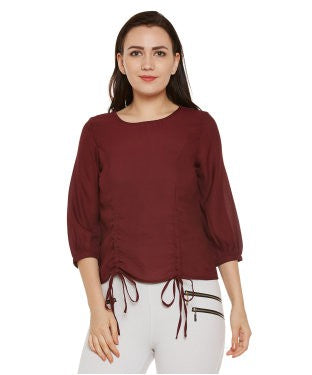 Oxolloxo Maroon Solid Top