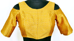 Stitch O Fab Yellow brocade Women Blouse-SOFybswb126