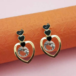 Tanishka Fashion Gold Plated Black Meenakari Austrian Stone Stud Earrings $ 1312855C