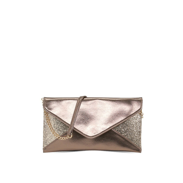 London Rag Womens GreySling Bag-BG5234_GOLD