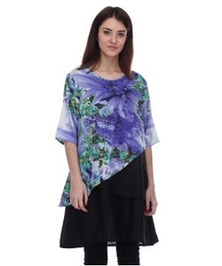 Blue Lotus Multicolor Tunic