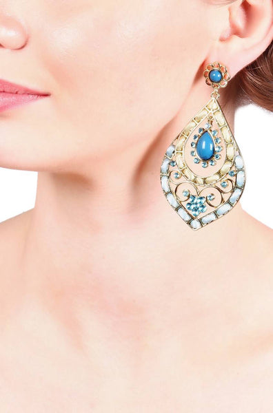 Misty Blue Earrings - JIHJEAR5794